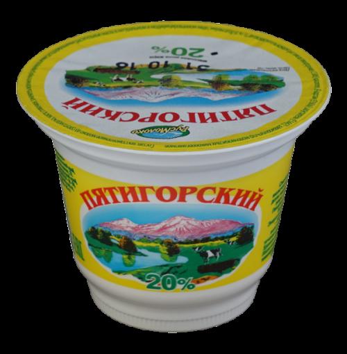 """Сметанный продукт """"Пятигорский"""", 20%"""