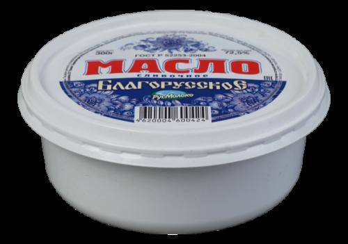 Масло сладко-сливочное «Благорусское», 72,5%