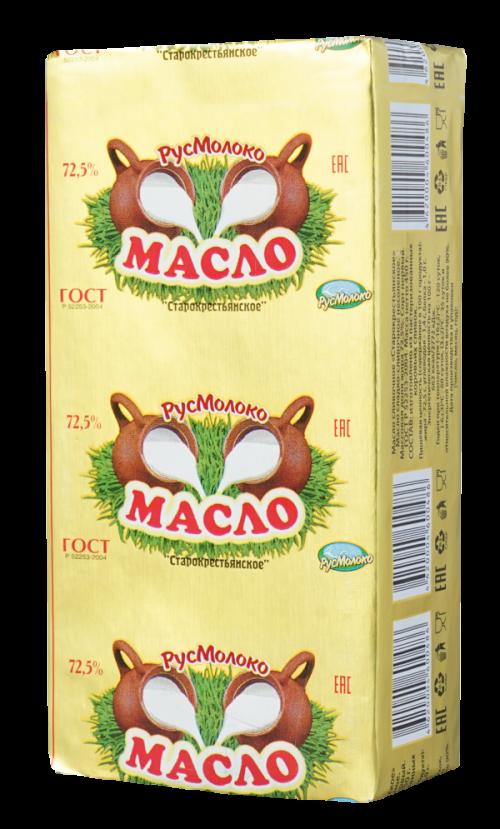 Масло сладко-сливочное «Старокрестьянское», 72,5%